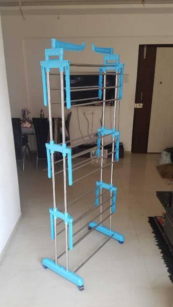 SUNDEX Steel Floor Cloth Dryer Stand NATURAL PICS