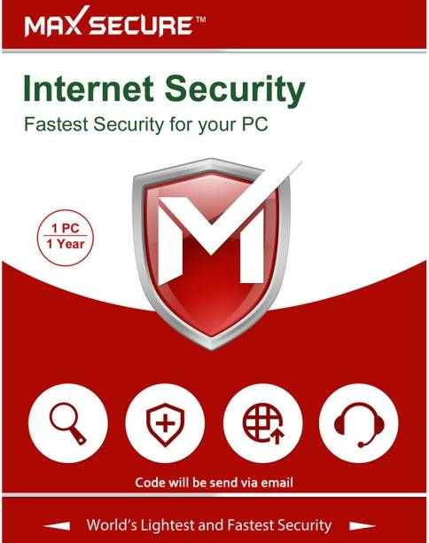 Max Secure Internet Security Platinum   1 PC 1 Year   Windows   Code emailed in 2 Hrs 1 User 1 Year Internet Security (Email Delivery - No CD)
