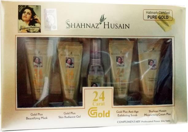 Shahnaz Husain HALLMARK CERTIFIED PURE GOLD SKIN RADIANCE FACIAL KIT 55 GM .