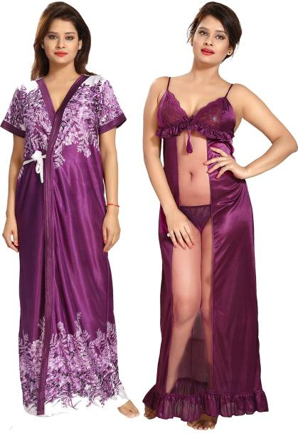 Purple Night Dresses Nighties - Buy Purple Night Dresses Nighties ... f5cf1ff42