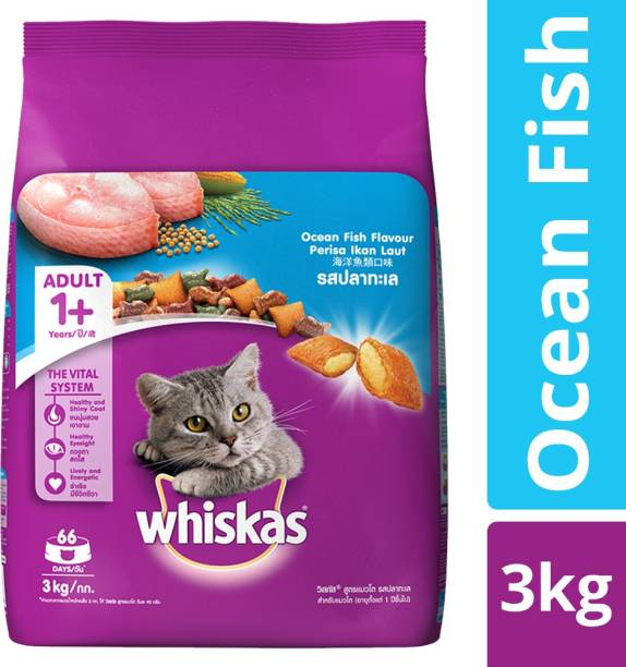 Whiskas Adult (+1 year) Ocean Fish 3 kg Dry Adult Cat Food