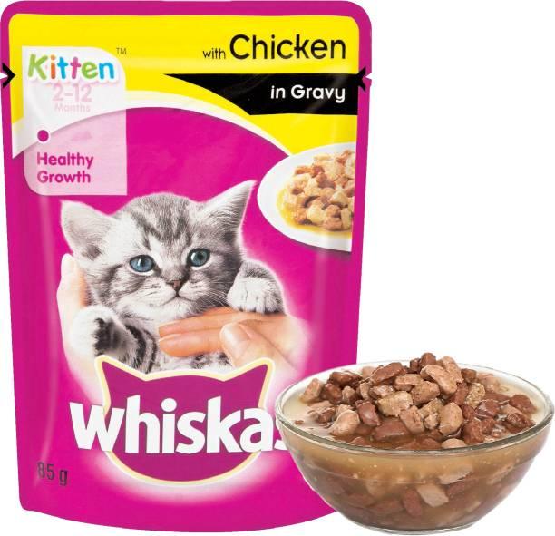 Whiskas Gravy Chicken 0.085 kg Wet New Born Cat Food