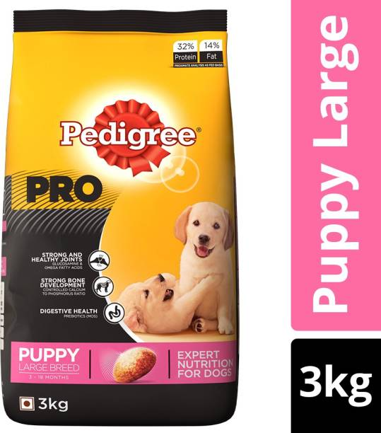 PEDIGREE PRO Expert Nutrition for Large Breed Puppy (3-18 months) 3 kg Dry New Born Dog Food