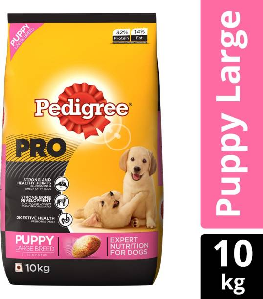 PEDIGREE PRO Expert Nutrition for Large Breed Puppy (3-18 months) 10 kg Dry New Born Dog Food