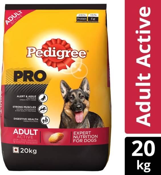 PEDIGREE PRO Expert Nutrition for Active Adult ( 18 Months Onwards ) 20 kg Dry Adult Dog Food