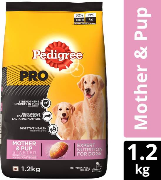 PEDIGREE PRO Expert Nutrition for Lactating/Pregnant Mother & Pup (3-12 weeks) 1.2 kg Dry New Born Dog Food