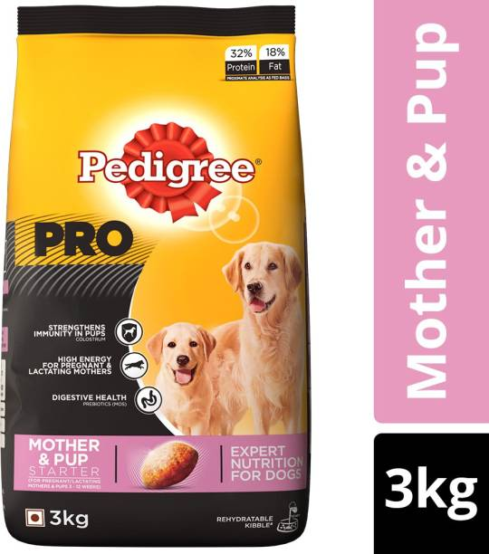 PEDIGREE PRO Expert Nutrition for Lactating/Pregnant Mother & Pup (3-12 weeks) 3 kg Dry New Born Dog Food
