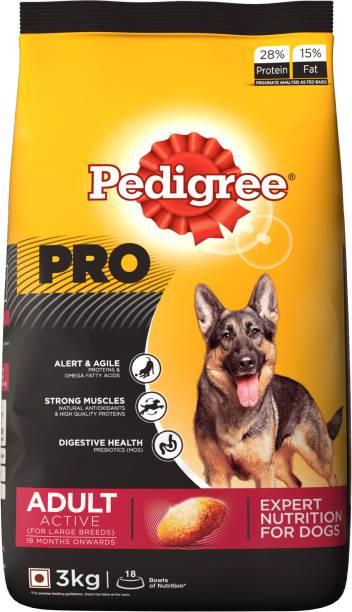 Pedigree Pro Expert Nutrition For Active 18 Months Onwards 3 Kg Dry Dog