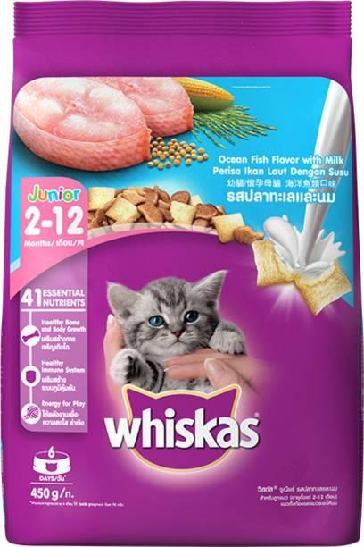 Whiskas Dry Meal Junior Ocean Fish 0.45 kg Dry Young, New Born Cat Food
