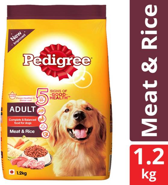 PEDIGREE Adult Meat, Rice 1.2 kg Dry Adult Dog Food
