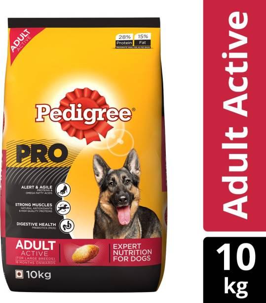 PEDIGREE PRO Expert Nutrition for Active Adult ( 18 Months Onwards ) 10 kg Dry Adult Dog Food