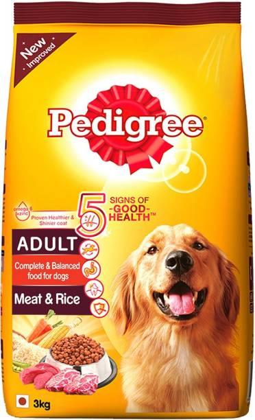 Pedigree Meat Rice 3 Kg Dry Dog Food