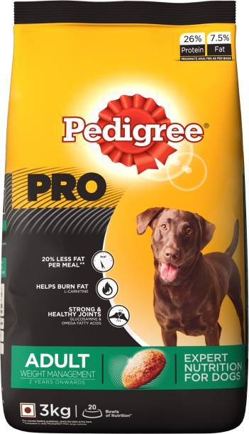 PEDIGREE PRO Expert Nutrition for Adult (+2 Years) Weight Management 3 kg Dry Adult Dog Food