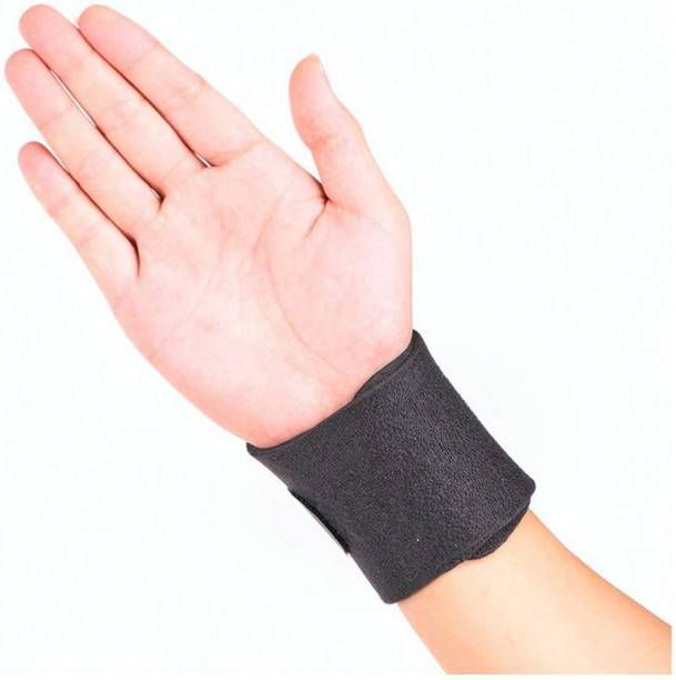 5d77f134ab QUINERGYS Adjustable Wrist Wraps with Thumb Loop Wrist Support (Free Size,  Jet)