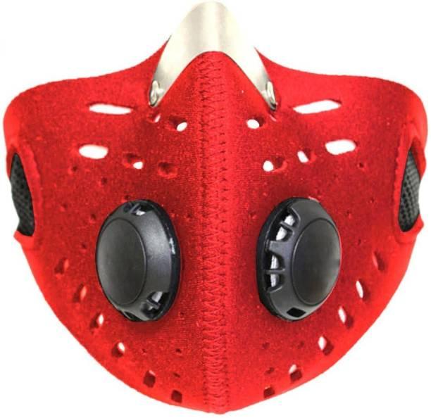 MOTOTRANCE Red Bike Face Mask for Men