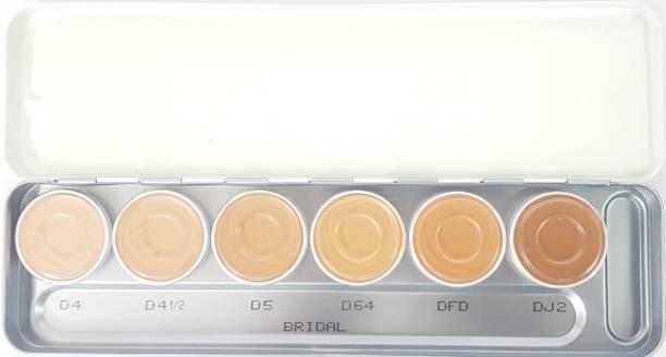 Kryolan Derma Color Camouflage Cream Palette ( 6 color ) ( BRIDAL )