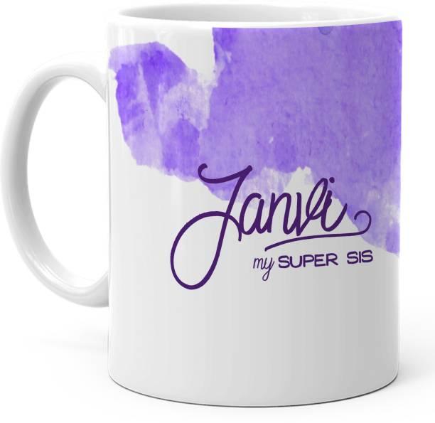 "HOT MUGGS ""Janvi"" - My Super Sis Ceramic Coffee Mug"