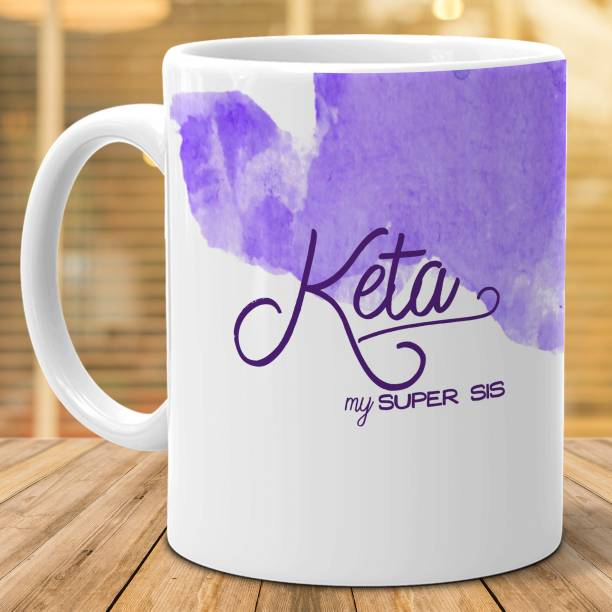 """HOT MUGGS """"Keta"""" - My Super Sis Ceramic Coffee Mug"""