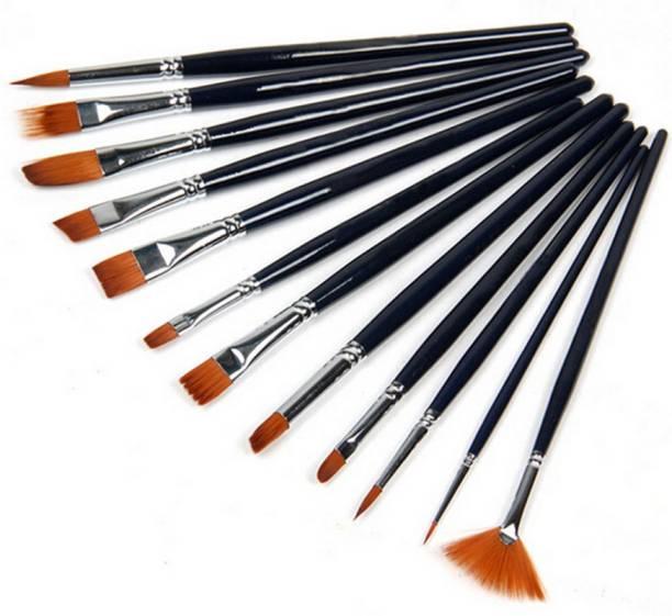 RIANZ 12 Brushes Set Artist Painting Brushes Set, Paint Brush