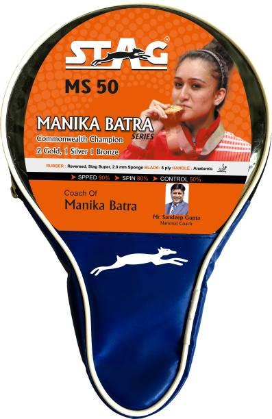 STAG MANIKA BATRA MS-50 Red, Black Table Tennis Racquet