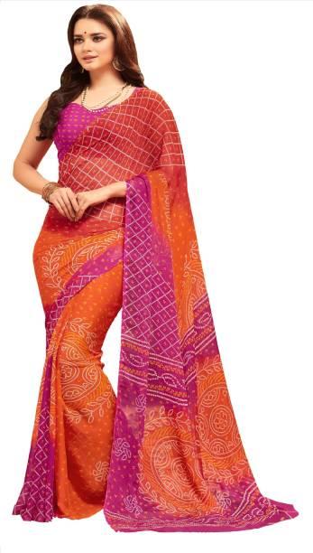 5ab1b230f8 Bandhani Sarees - Buy Bandhani Sarees / Jaipuri Sarees Online at ...