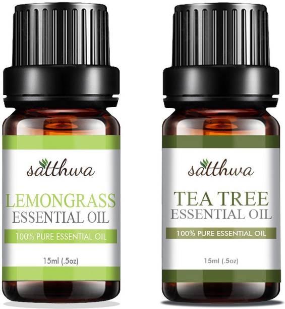 Satthwa Lemongrass Oil & Tea Tree Oil Combo