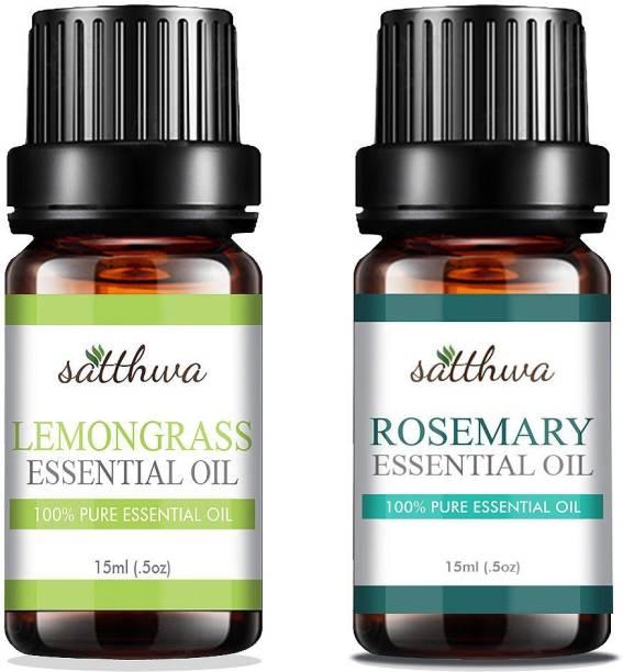 Satthwa Lemongrass Oil & Rosemary Essential oil Combo