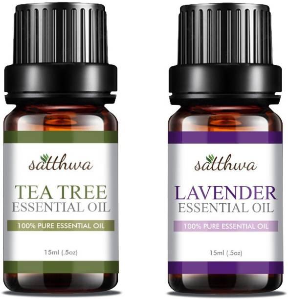 Satthwa Tea Tree Oil & Lavender Essential Oil Combo