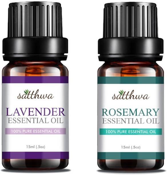 Satthwa Lavender Essential Oil & Rosemary Essential Oil Combo