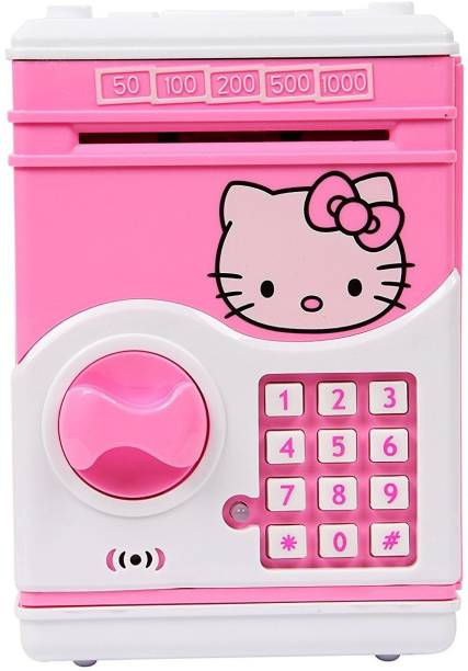 557675c93 Darling Toys Hello Kitty Money Safe Kids Piggy Savings ATM Bank with  Electronic Lock Coin Bank