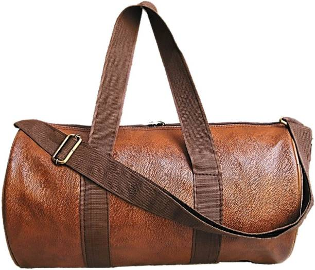 062e7ebf9a1934 Muccasacra Weekender Duffel Gym Bag with 3 compartments (Scrubbed Tan) Gym  Bag