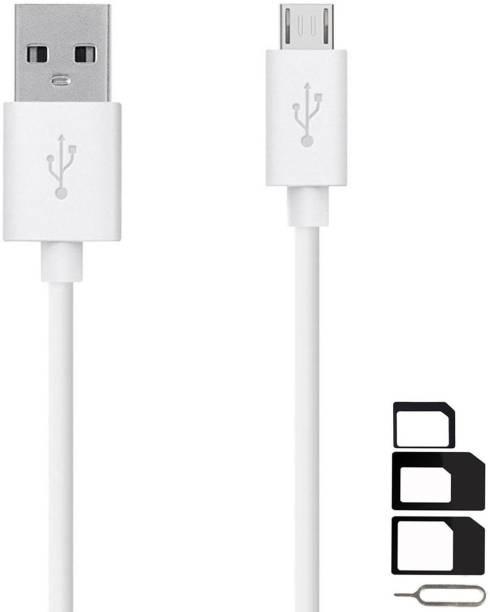 RunSale Cable Accessory Combo for Videocon Infinium Z45 Dazzle, Graphite V45DB, Z55 Dash, Octa Core Z55 Delite, Z45 Amaze, Infinium Z51 Punch, Infinium Z52 Inspire, Z30 Pace, Infinium Z30 Aire, Infinium Z40 Quad, Infinium Z51 Nova Plus, Thunder Plus 2 V50DC, A48 High Speed Micro USB Charging Data Sync Cable 1 Meter With SIM Adapter