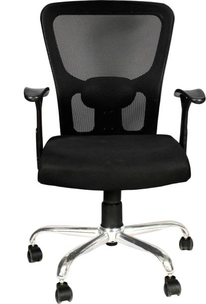 ca0277364 APEX CHAIRS CHAIRS AM-5006 BEATLE CHROME BASE MEDIUM BACK OFFICE CHAIR  Fabric Office Executive