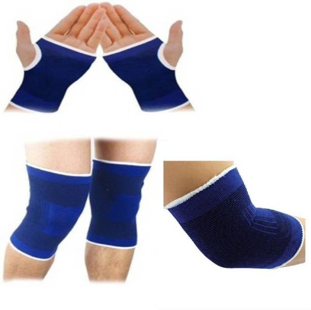 15354003a5 H D Enterprise COMBO PALM KNEE ELBOW SUPPORT Palm & Elbow Support (Free  Size, Blue
