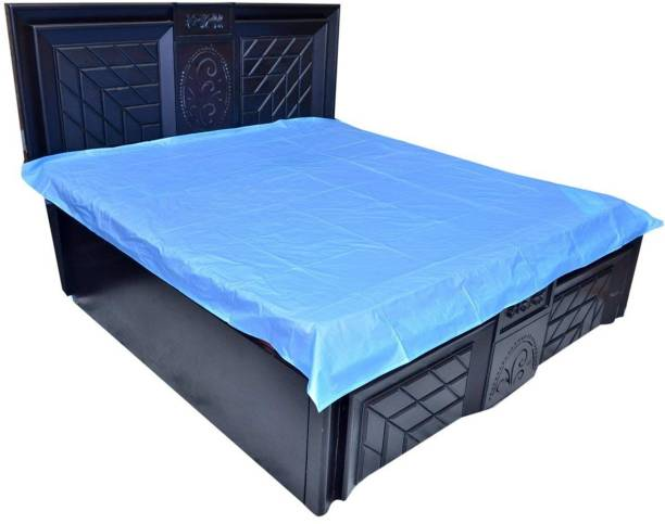 PVC Bedsheet,Baby Plastic Sheet/Mattress Protector Sheet,Waterproof Bedsheet Plastic /Size (6.5 Ft x 6 Ft Or 72 Inch x 80 Inch) 210 TC Polyester Double Solid Bedsheet