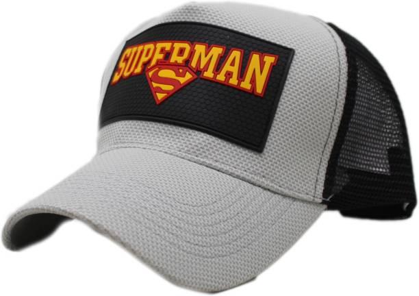 4008d5d37dd Friendskart Superman baseball cap summer mesh hats black adult unisex  casual baseball caps adjustable cap snapback