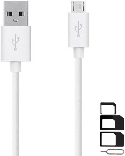 UrCart Cable Accessory Combo for Honor 6X, Holly 2 Plus, 5X, 5C, Holly 3, 8 Smart, Bee, 4X, 6, 6 Plus, Holly, Huawei P8 Lite, Huawei Ascend G630, Huawei Ascend G6, Huawei Honor 3X High Speed Micro USB Charging Data Sync Cable 1 Meter With SIM Adapter
