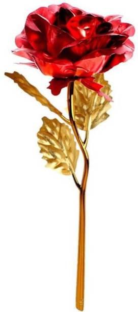 Rangoli 100% Genuine Gold Rose Gold Rose Artificial Flower