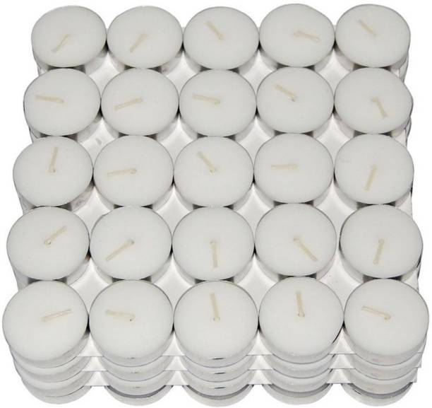 Manogyam okeless T-Light Candles 4 Hrs Burning Tim 100 PIC Candle