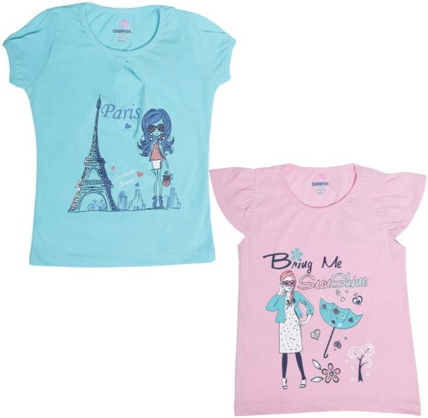 cacdb5b3068 Dollar Champion Kidswear Girls Casual Polyester Cotton Blend Knit Top