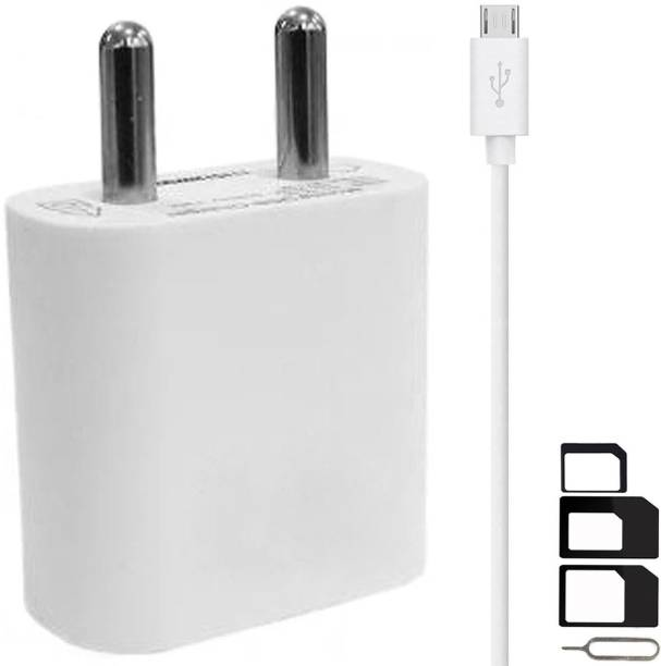 GoSale Wall Charger Accessory Combo for VOX Mobile Kick K3, VOX Mobile Kick K7, VOX Mobile V5600 Charger With 1 Meter Micro USB Charging Data Cable And SIM Adapter