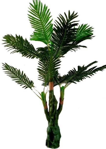 KAYKON Natural Palm Tree Green Plant Home Decorative Artificial Tree - 5 Feet/60 inch Artificial Plant  with Pot