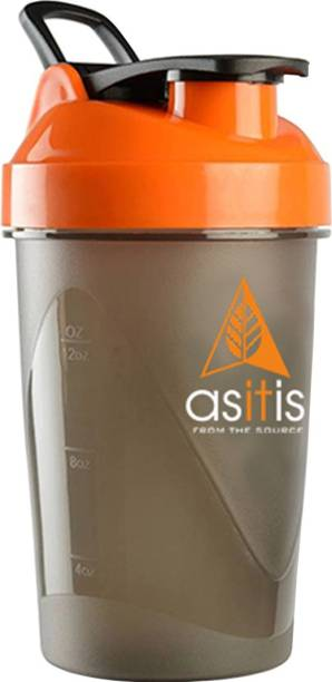 AS-IT-IS Nutrition Protein Shaker Bottle with Scoop (30g) & Mixer Ball 400 ml Shaker
