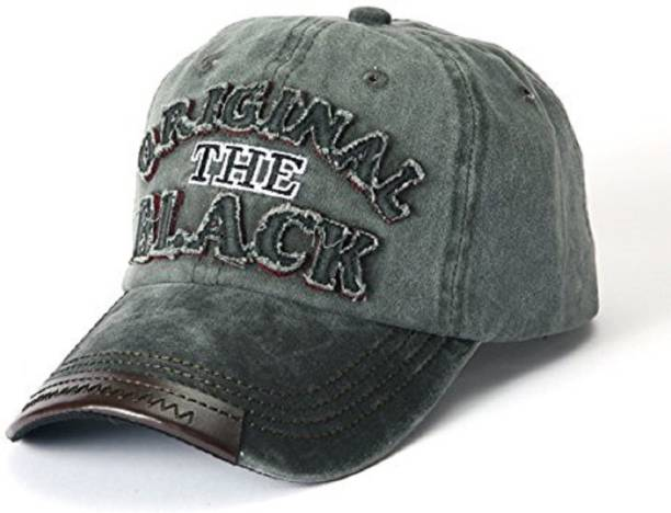 5b7bd1903d1 HANDCUFFS Stylish Cotton Baseball Adjustable Black Cap for Men Women Cap