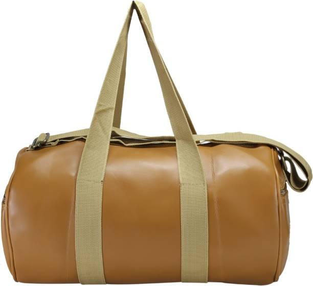 Desence Women   Girls Stylish Genuine Leather Duffle Cum Gym Bag Travel Duffel  Bag Gym Bag 80d5ff47ab48f