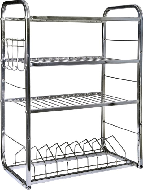 Royal Sapphire Stainless Steel Kitchen Rack (24x18x10) Stainless Steel  Kitchen Trolley