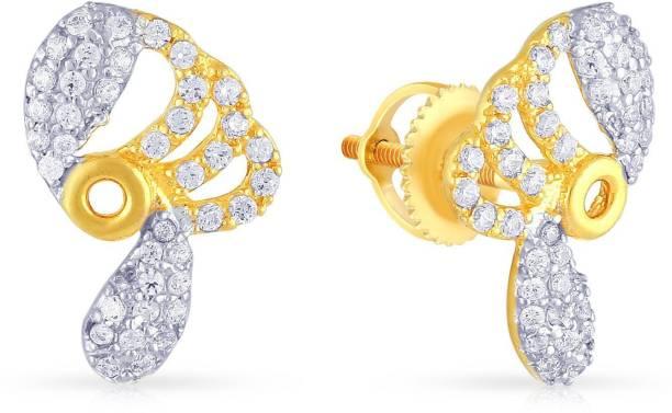ecb1db9df Malabar Gold and Diamonds MHAAAAACKGPV Yellow Gold 22kt Cubic Zirconia Stud  Earring