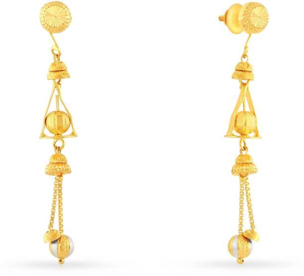 c71bc6d45 Malabar Gold and Diamonds AHDAAAAAEXAM Yellow Gold 22kt Dangle Earring