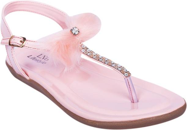 LNG Lifestyle Girls Sling Back Flats (Pink) cheap find great explore cheap price clearance PbHs6