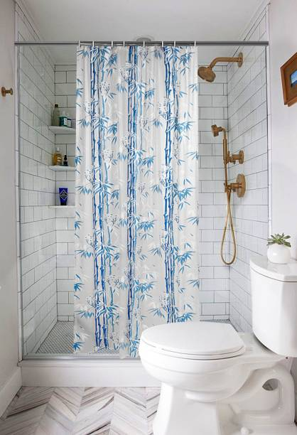 E-Retailer 213.36 cm (7 ft) PVC Shower Curtain Single Curtain
